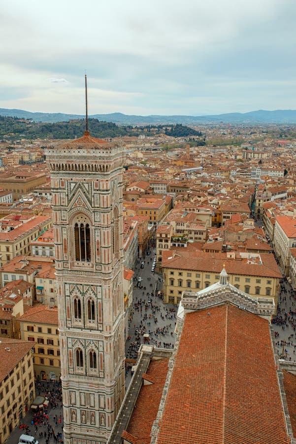 Duomo Santa Maria Del Fiore i Bargello wieczorem zdjęcia royalty free