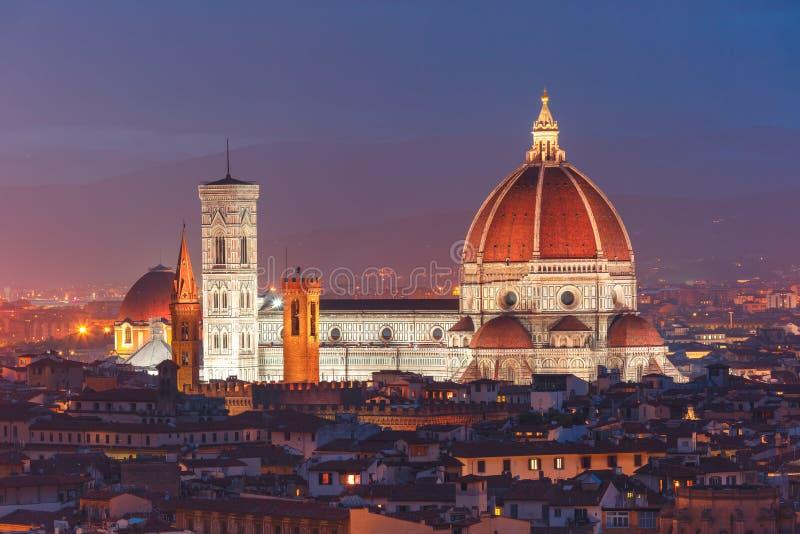 Duomo Santa Maria Del Fiore i Florence, Italien arkivfoton
