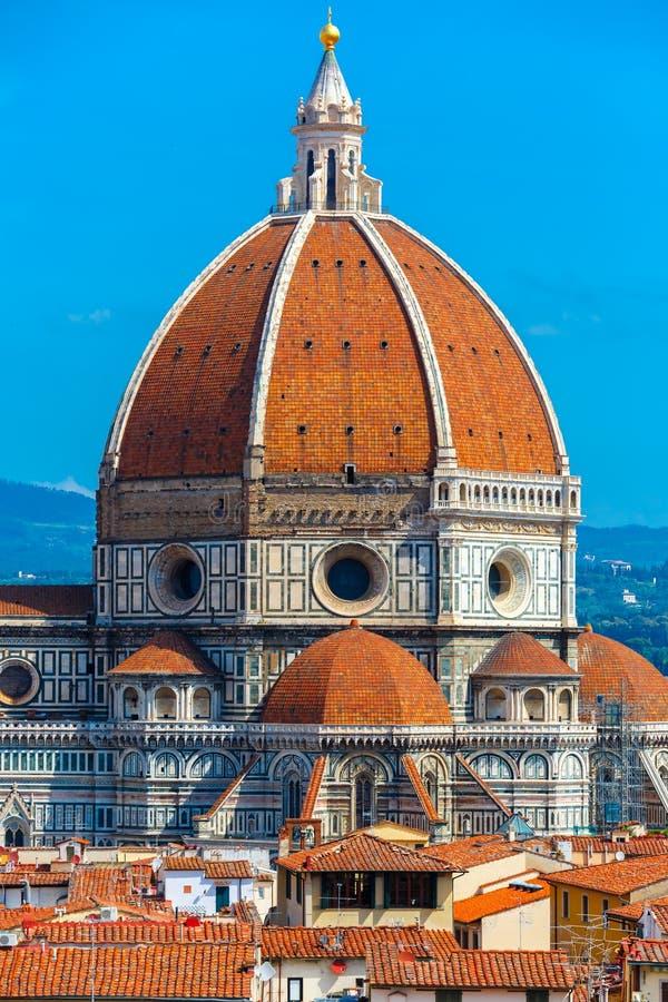 Duomo Santa Maria Del Fiore i Florence, Italien arkivbild
