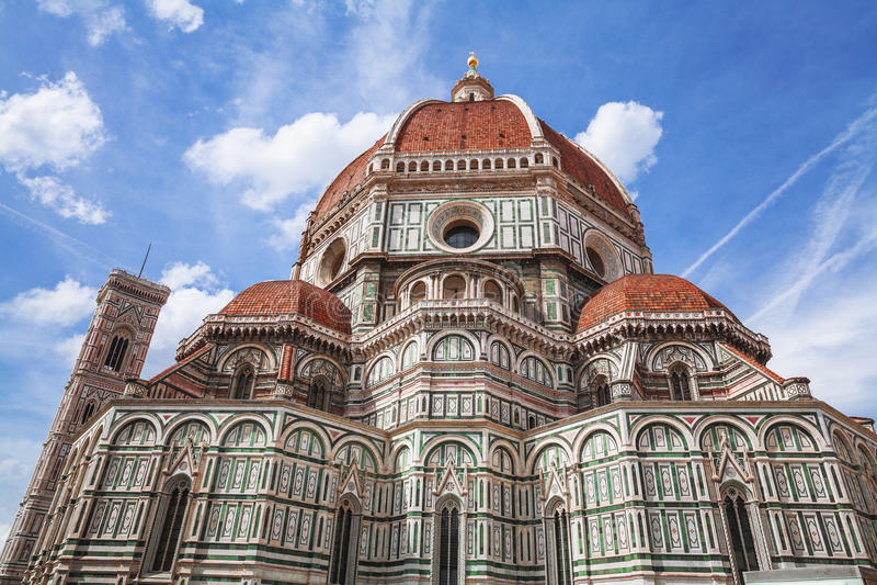 Duomo Santa Maria del Fiore i Florence Italien Tuscany royaltyfria bilder