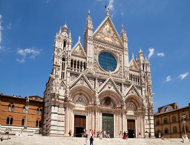 The Duomo of Siena stock images