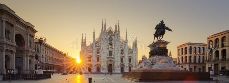 Duomo at sunrise royalty free stock photography