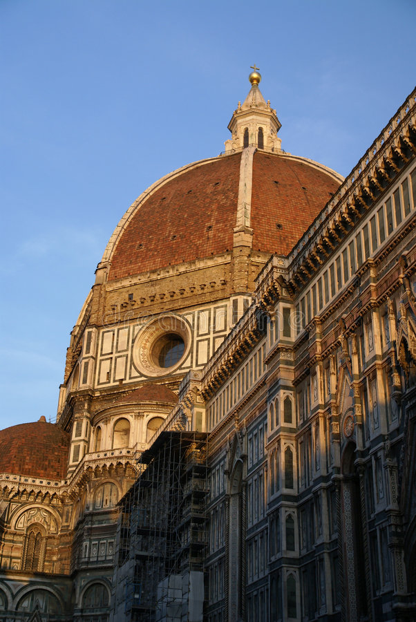 Duomo at sunset royalty free stock image