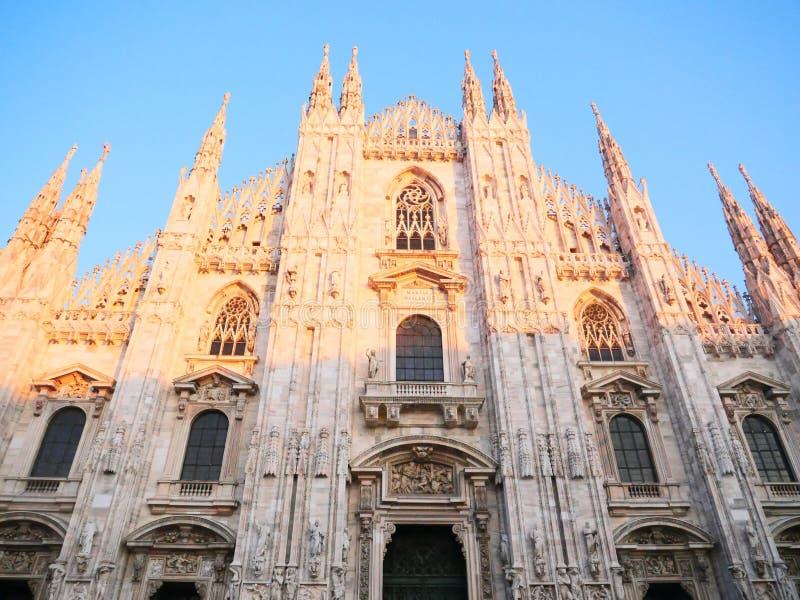 Duomo van Milaan stock afbeelding
