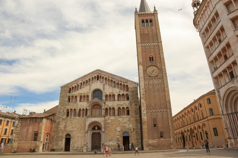 Duomo van Parma royalty-vrije stock foto's