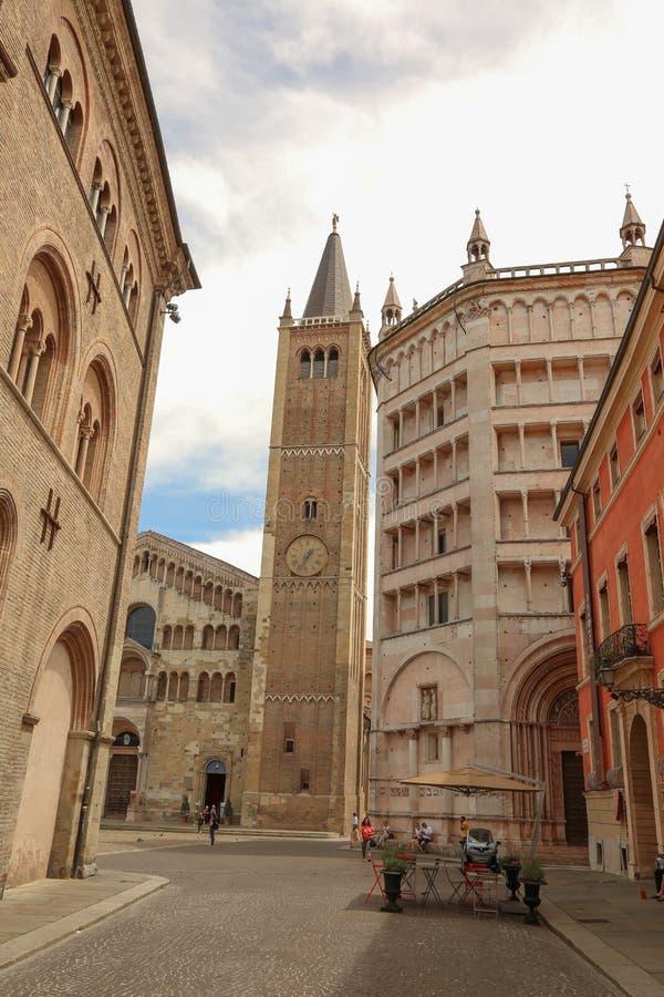 Duomo van Parma stock fotografie