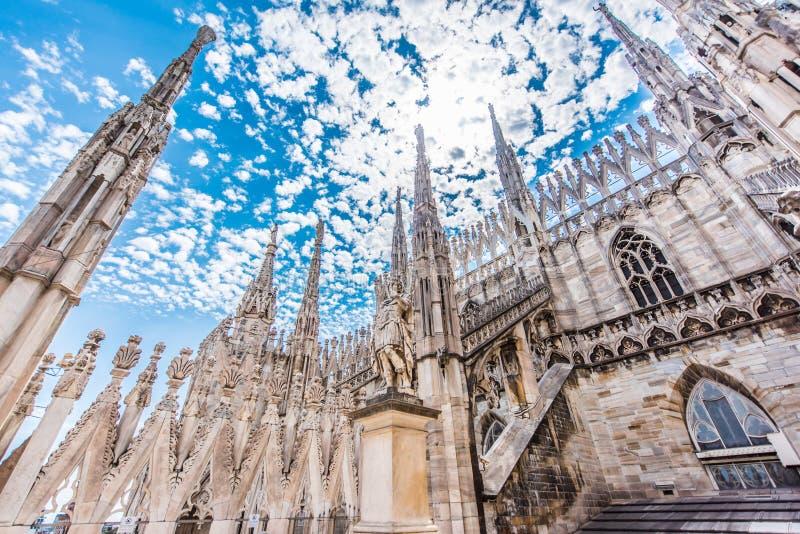 Duomo von Mailand, Italien, Ansicht des Dachs stockfoto
