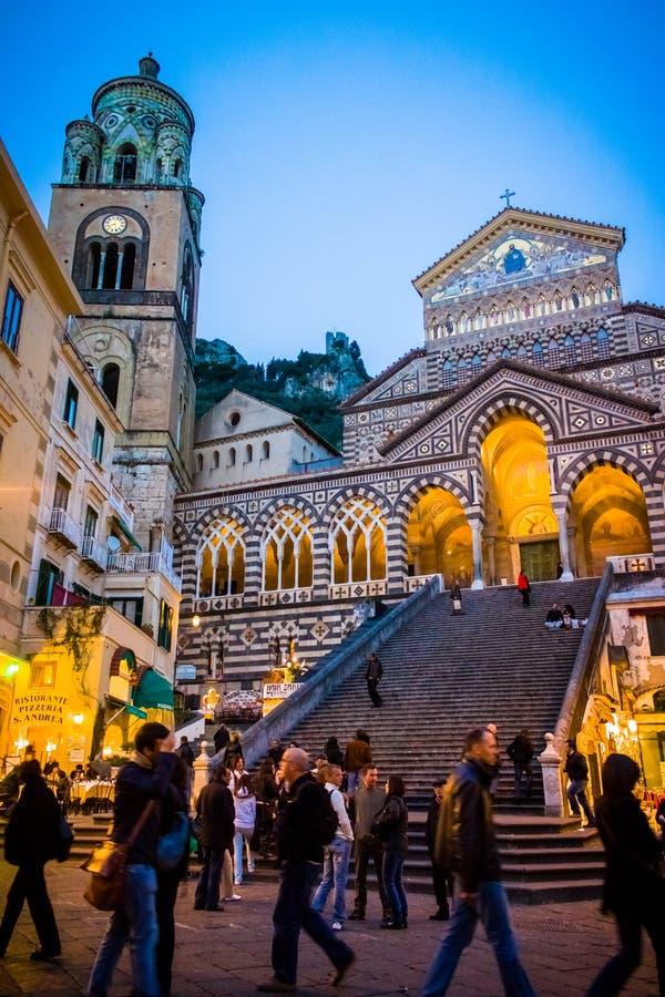Duomodi Amalfi i Italien fotografering för bildbyråer