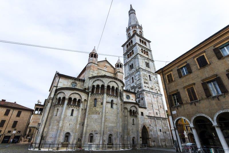 Duomodi Modena, Italien arkivbild