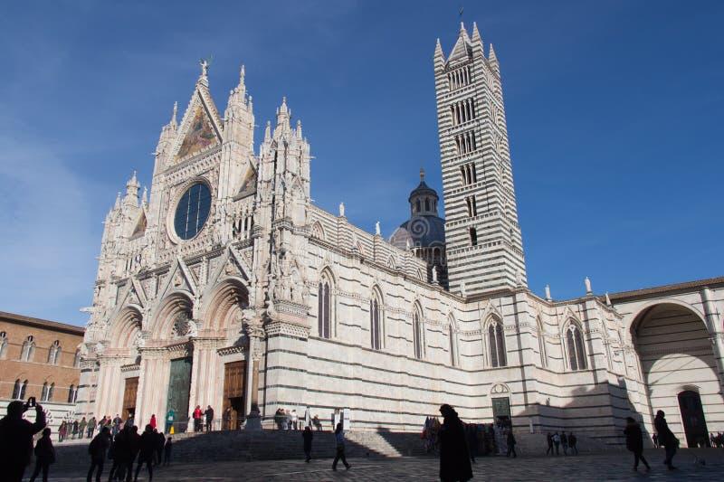 Duomodi Siena oder Stadtkathedrale von Santa Maria Assunta toskana Italien lizenzfreie stockfotos