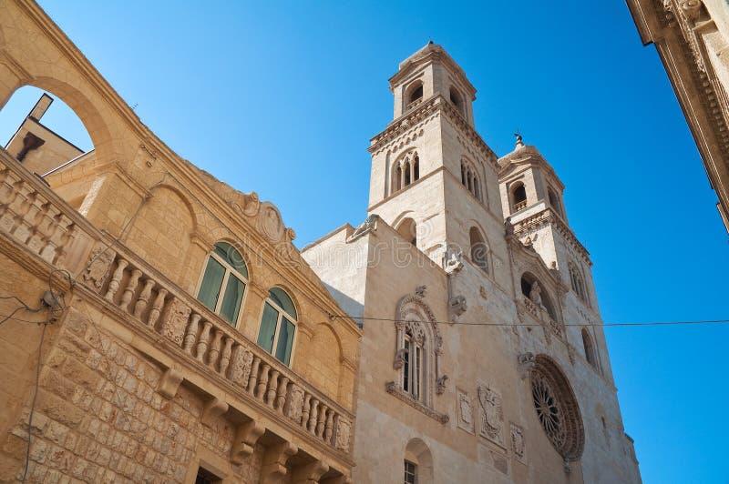 Duomodomkyrka av Altamura Puglia italy arkivbild