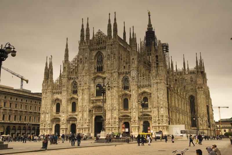 Duomoen Cathdral Milano Italien arkivfoto