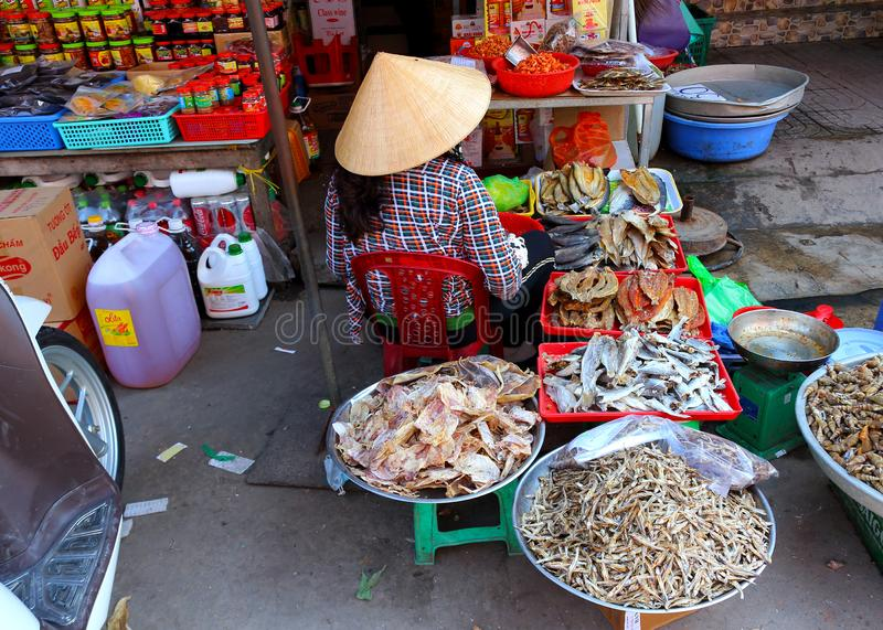 Traditional Vietnamese market royalty free stock photography