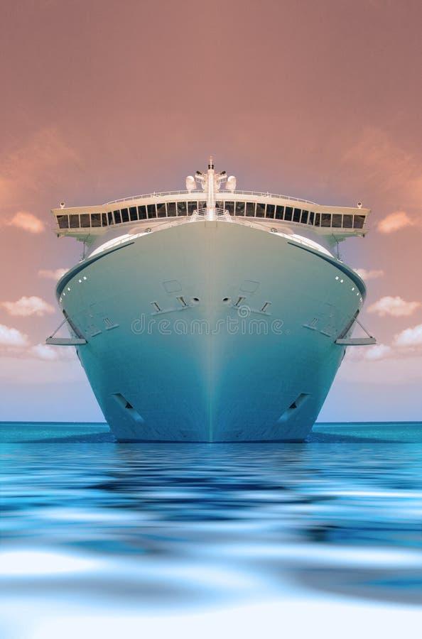 Duotone della nave da crociera immagine stock