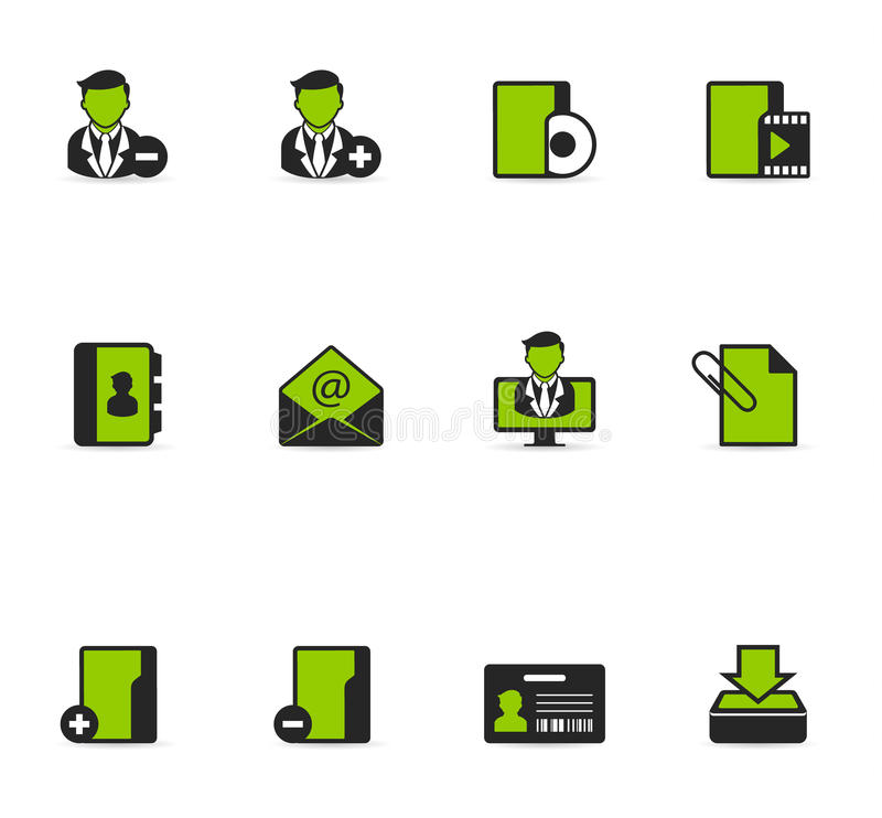 Duotone Icons - Group Collaboration stock illustration