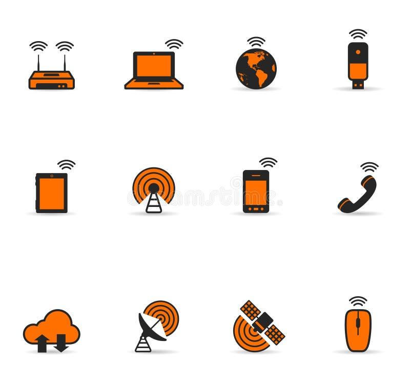 Duotone Icons - Wireless World vector illustration