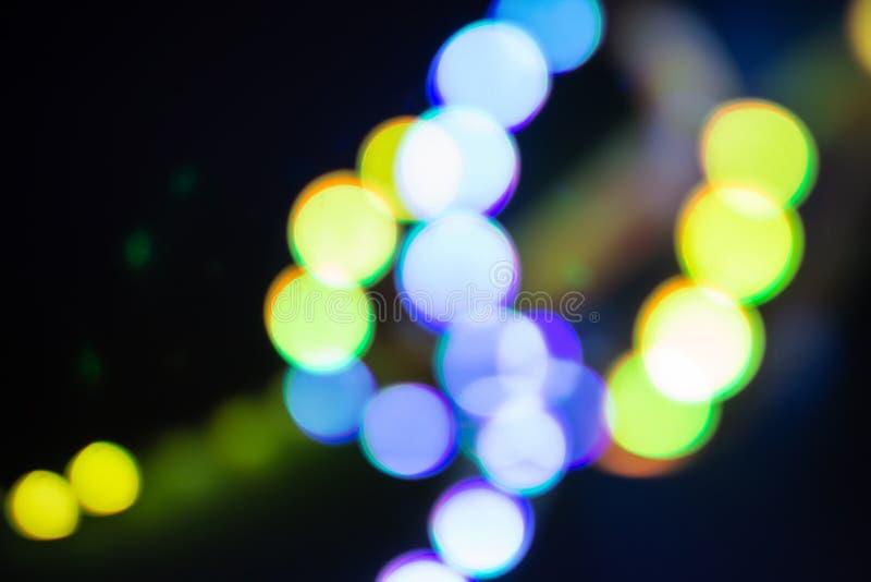 Duotone violetta och guld- oskarpa neonljus Abstrakt bakgrund av 80-talfärger fotografering för bildbyråer