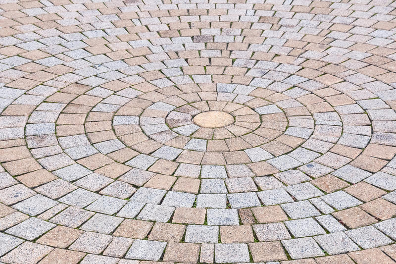 Duotone yellow and Gray Brick Stone on The Ground for Street Road royalty free stock photography