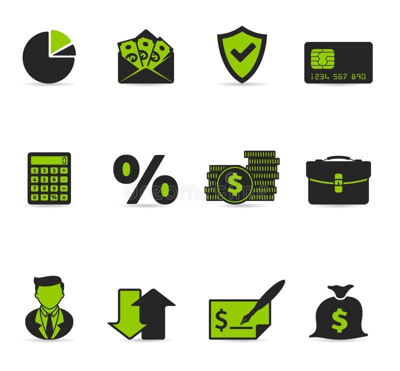 duotonefinanssymboler mer vektor illustrationer