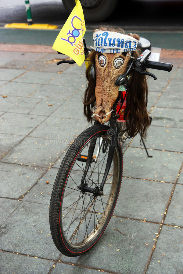 Dupé vélo à Bangkok photo libre de droits