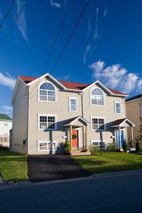 Download Duplex 2 stock photo. Image of door, sunny, morgage, prime - 4972912