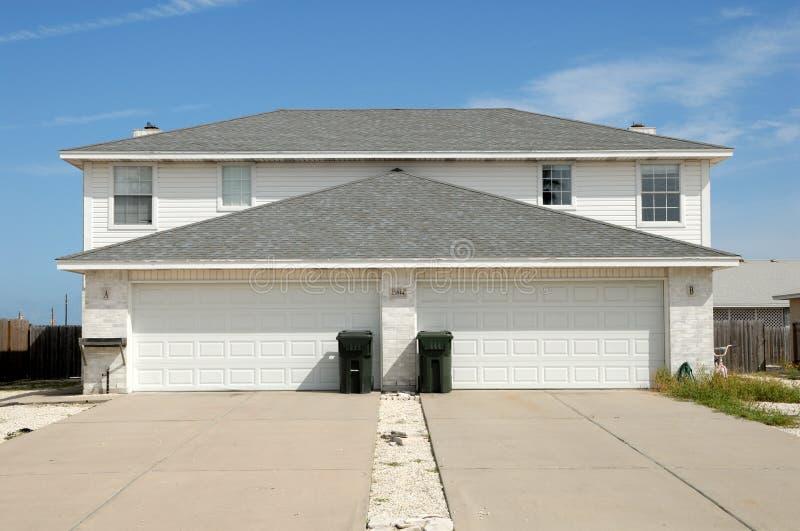 Duplex house stock photo