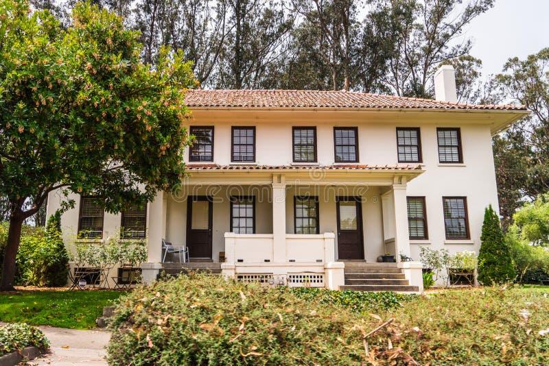 Duplex house in Presidio of San Francisco, California stock photos