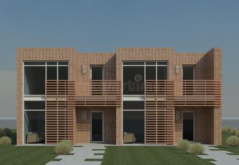 duplex moderne illustration stock illustration du architecte 16335512. Black Bedroom Furniture Sets. Home Design Ideas