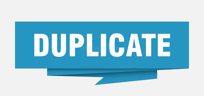 duplicate royaltyfri illustrationer