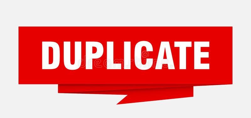 duplicate vektor illustrationer