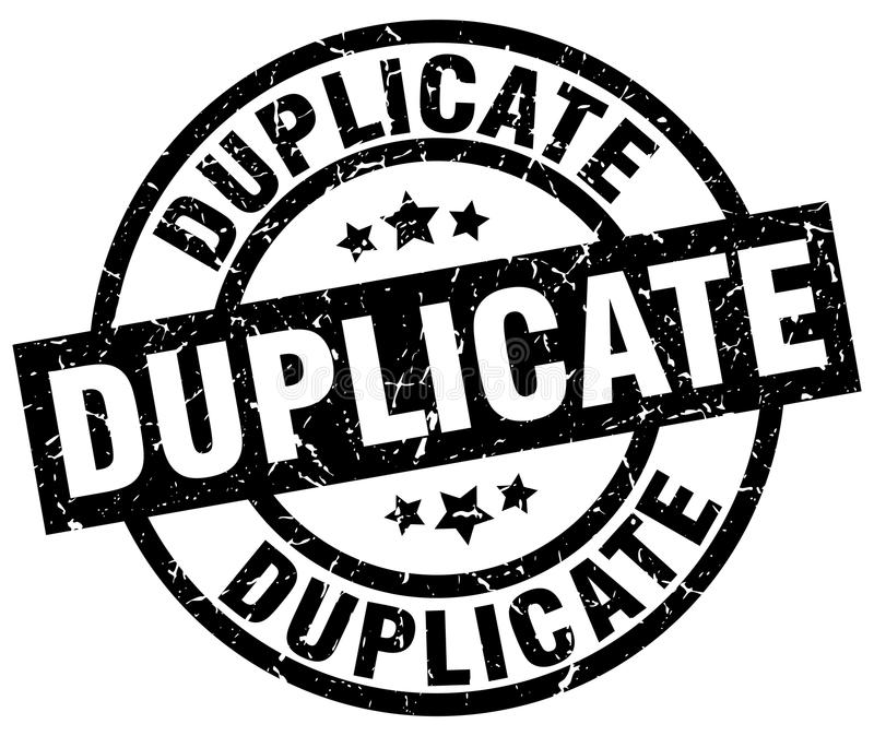 Duplicate stamp. Duplicate grunge vintage stamp isolated on white background. duplicate. sign royalty free illustration
