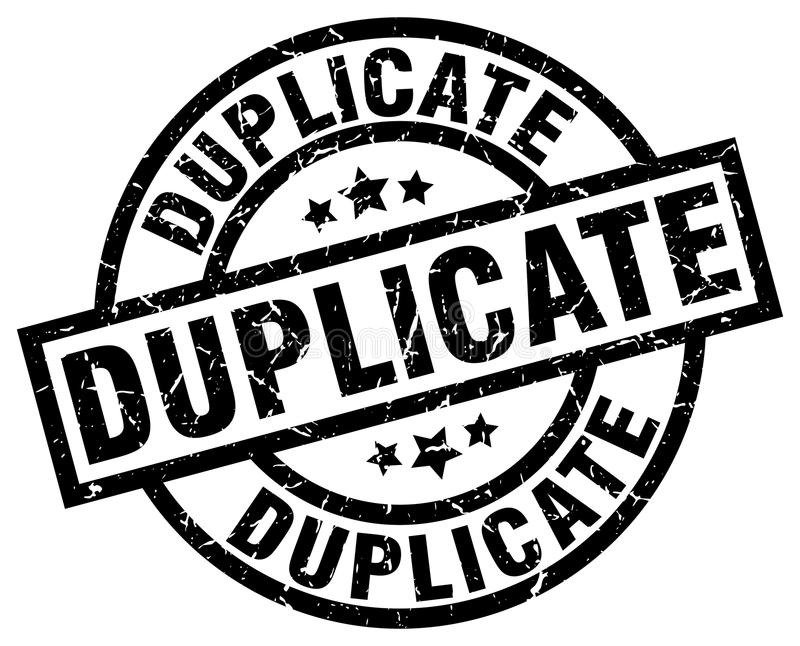 Duplicate stamp. Duplicate grunge vintage stamp isolated on white background. duplicate. sign vector illustration
