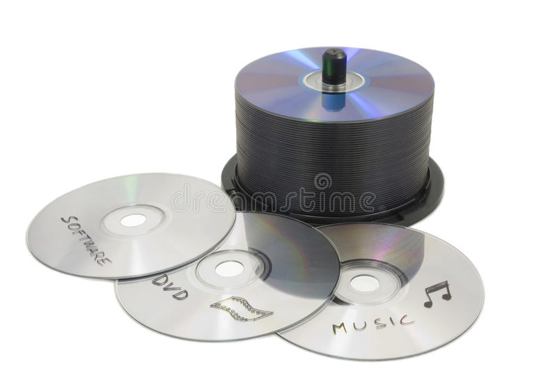 Duplication CD photo stock