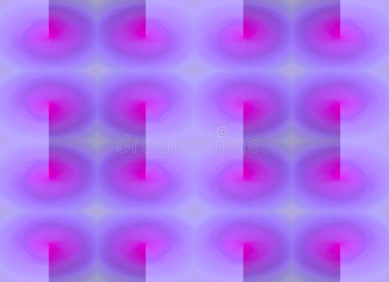 PINK AND PURPLE TWIRL PATTERN. Duplication of pink twirls on a purple background royalty free stock images