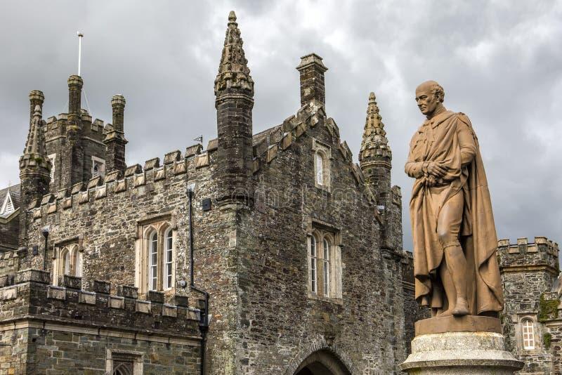 Duque da estátua de Bedford em Tavistock Bedford Sqare imagens de stock