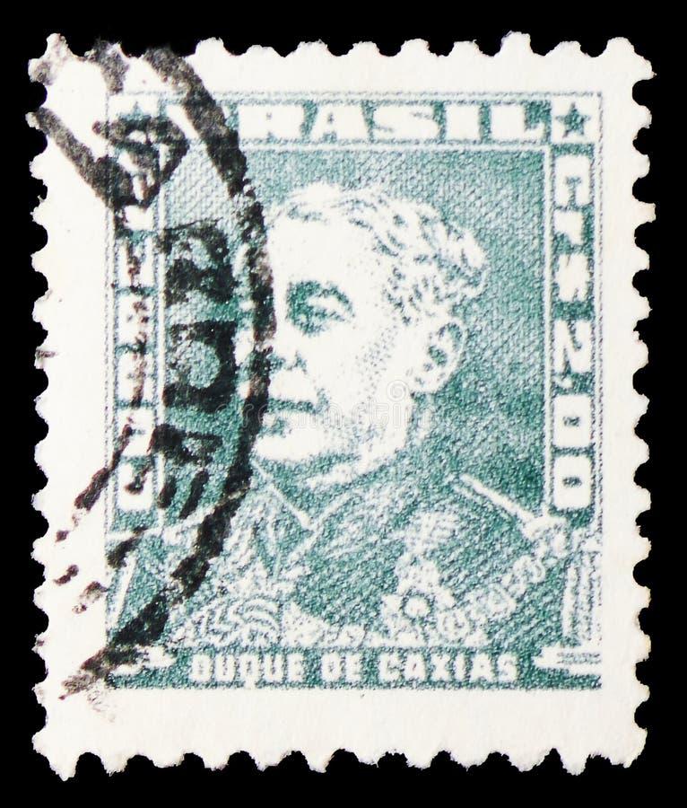 Duque de Caxias, портреты - известные люди в serie истории Бразилии, около 1961 стоковые изображения