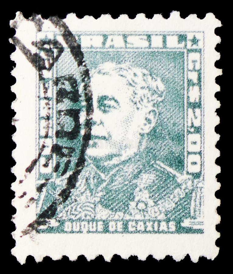 Duque De Caxias, portrety - S?awni ludzie w Brazylia historii seria oko?o 1961, obrazy stock