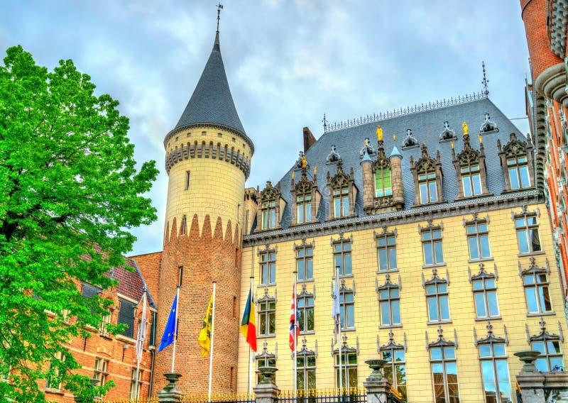 Duques Palácio do hotel em Bruges, Bélgica imagens de stock royalty free