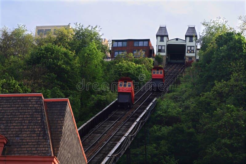 Duquesne-Neigung in Pittsburgh, Pennsylvania, USA lizenzfreie stockbilder