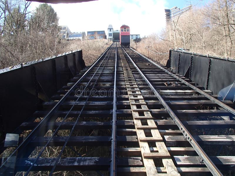 Duquesne sluttningPittsburgh PA arkivbild