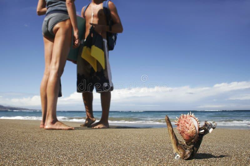 Durée 1 de plage image libre de droits