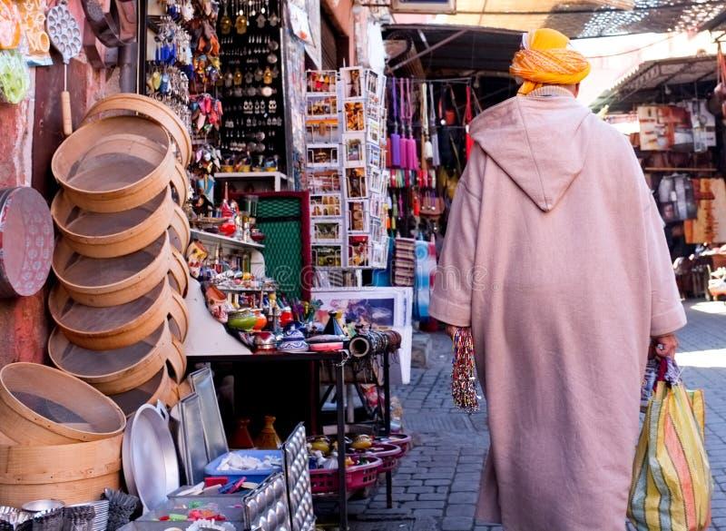 Durée de Marrakech dans Souks images stock