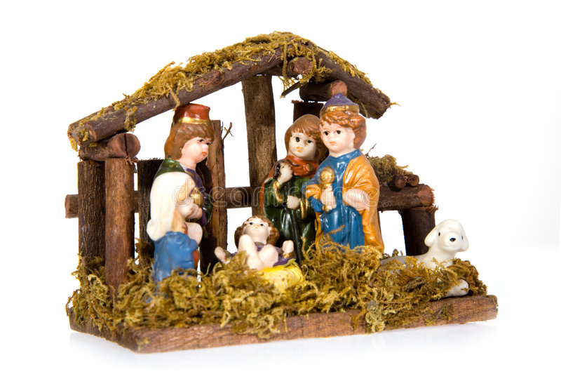 Durée de Noël avec Bethlehem traditionnel photographie stock libre de droits