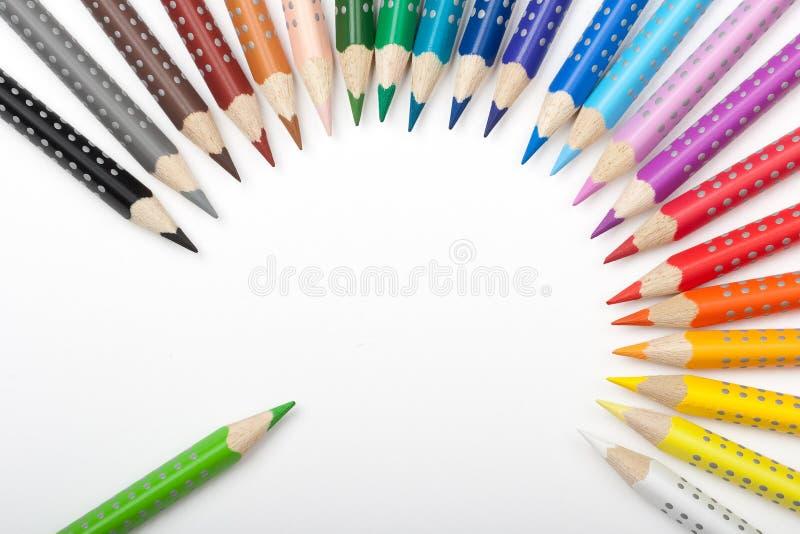 Durée des crayons de couleur images stock