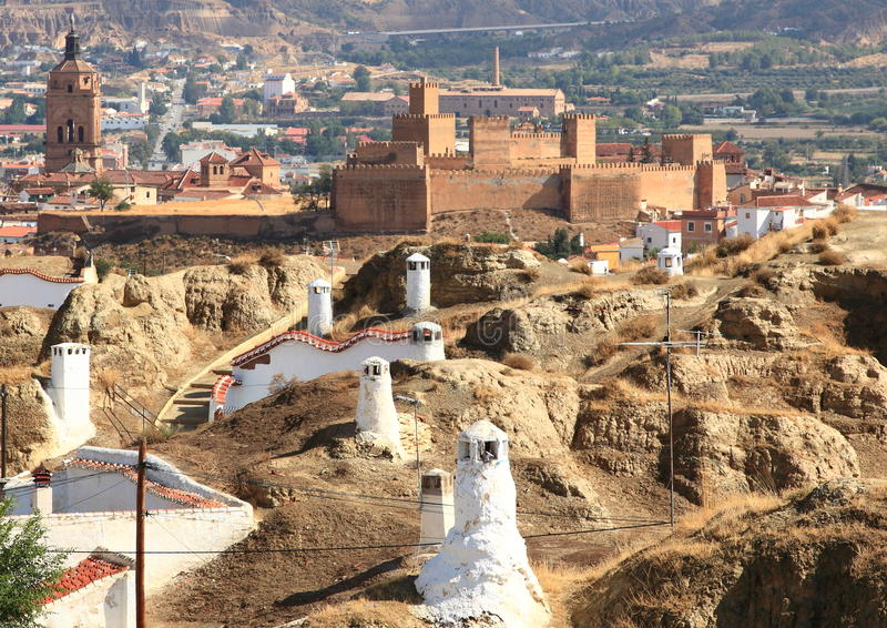 Durée souterraine de Guadix, l'Espagne photos libres de droits