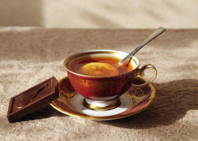 Durée toujours avec du thé image libre de droits