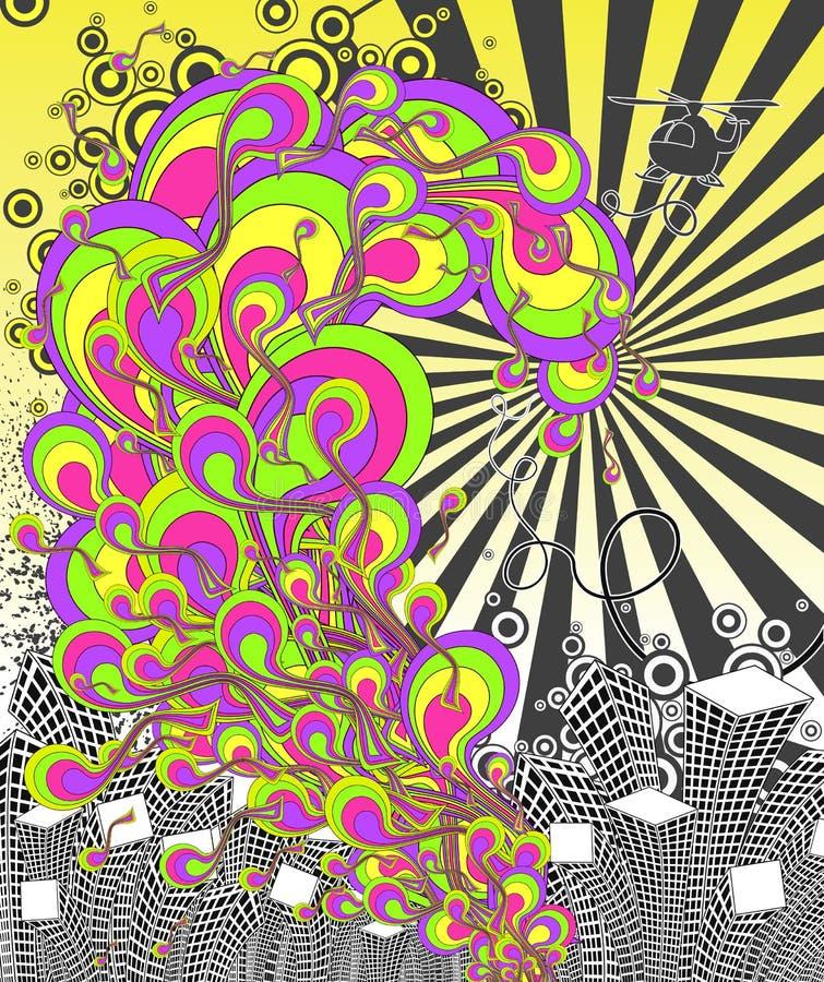 Durée urbaine de disco. illustration de vecteur