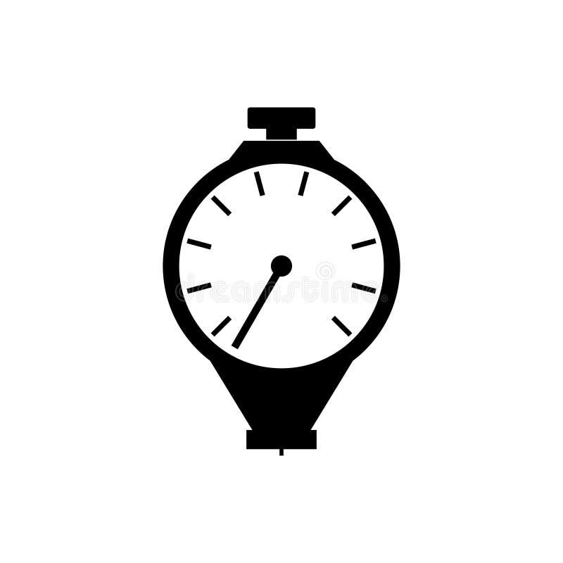 Durómetro, ícone do dispositivo de medição da dureza ilustração royalty free