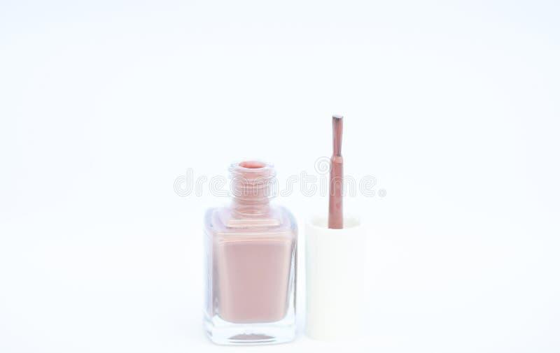 Durabilidad y calidad de la capa del esmalte de uñas Tecnología moderna polaca del gel Color brillante de la botella del esmalte  foto de archivo