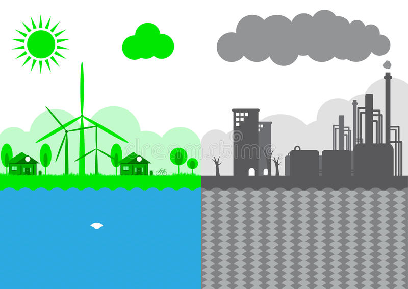 Durabilité de concept d'écologie de la terre illustration libre de droits